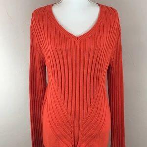 Market & Spruce Stitch Fix Eronne Orange Sweater